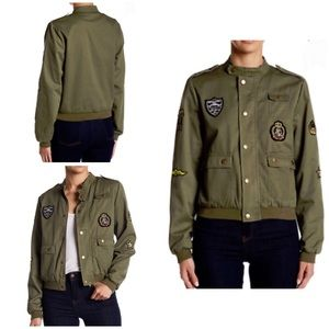 Military Bomber Jacket W/Patches